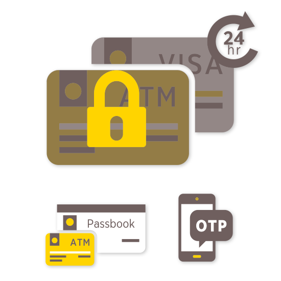 ATM/VISA debit card suspension service through Krungsri Online is applicable to only cards linked to a savings/current account registered with a Krungsri ...